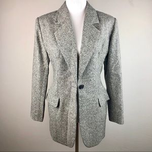 Yves Saint Laurent Cashmere & Wool Gray Blazer 12